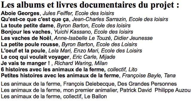 Hervorragend Liste des albums du projet : Animaux de la ferme | Les petits zèbres WP83